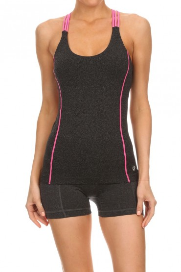 MULTI-STRAP CAMI ACTIVE TOP WITH STITCH #6ACM01