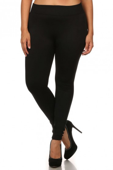 PLUS SEAMLESS FLEECE LEGGINGS #X6SS9000
