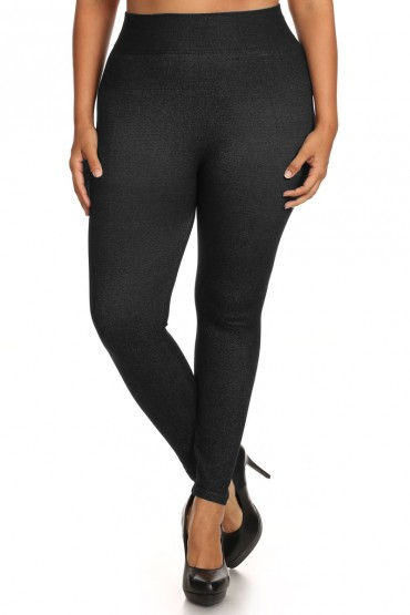 PLUS SIZE EXTREMELY STRETCHY SEAMLESS JEGGING #X6JG08