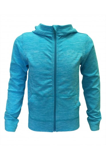 KIDS ACTIVE SPACE DYE LONG SLEEVE ZIPUP HOODIE JACKET(4/5, 6/6X)#K6AJK01