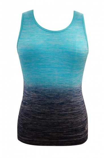 KIDS SEAMLESS OMBRE SPACE DYE ACTIVE TOP (4/5, 6/6X) #K6ATK06