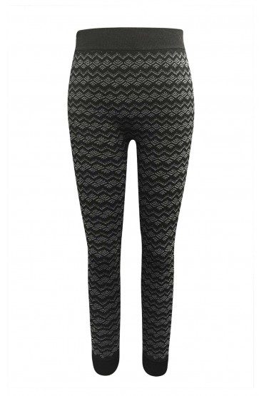 KIDS BLACK/GREY TRIBAL FRENCH TERRY JACQUARD SEAMLESS JOGGER (4/6X) #K6TRK12-01