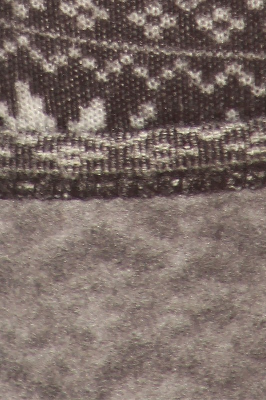 BLK/HGRY FAIRISLE PRINT FLEECE-LINED SWEATER KNIT LEGGING #7L108 ...