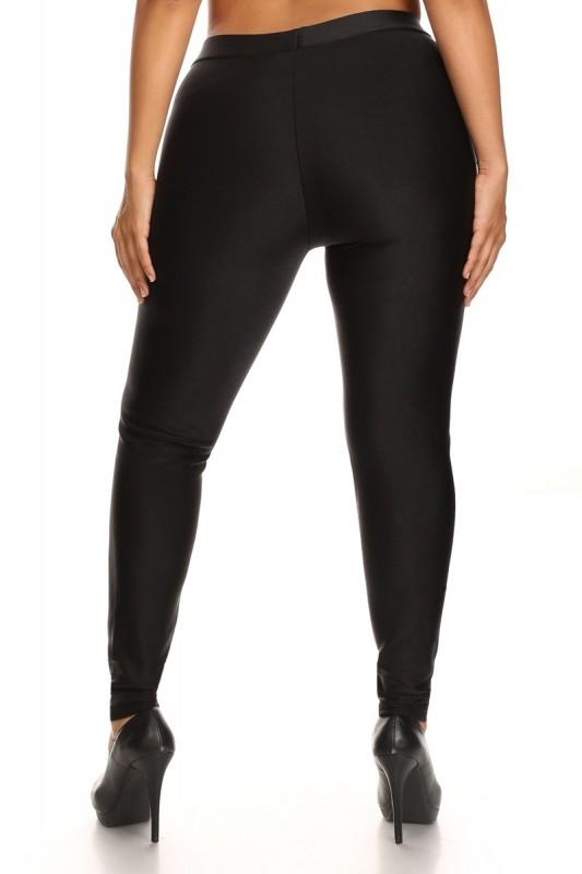 plus size shiny fleece lined legging #x6l39 - plus