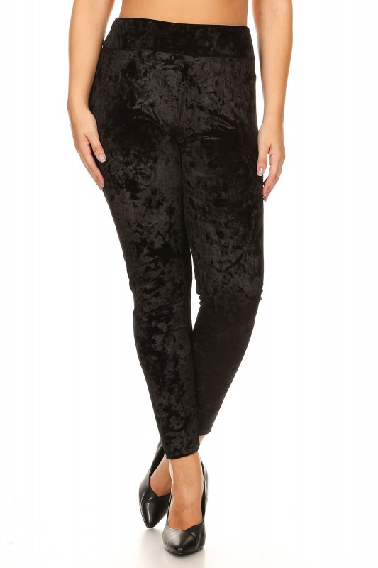 f94a437e846e73 PLUS SIZE CRUSHED VELVET LEGGING#X7L52 - Leggings Plus - JUNIOR PLUS ...
