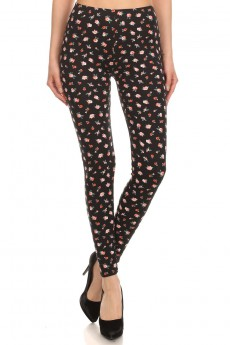 BRUSH POLY PRINTED LEGGING #16MYQ01