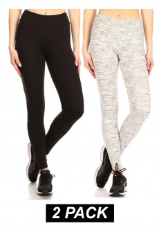 CROPPED LENGTH 2PACK BRUSHED POLY LEGGING #2P9L02-SD07