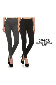 2PACK RIB FRENCH TERRY SEAMLESS LEGGING#2P9L19