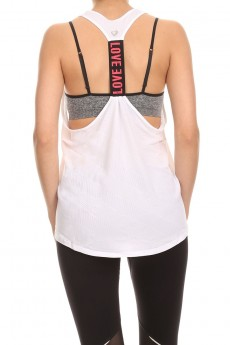 RELAX RACER TANK W/WORDING TAPE #6ATK05