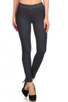 MISSY BLACK FLEECE LINED DENIM JEGGING #MQR6JG10