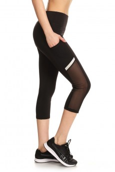 CAPRIS WITH MESH POCKET SIDE PANELS AND REFLECTION TRIM #7CP02