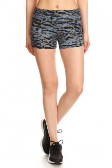 BLACK/NAVY PRINT CUT & SEW RUNNING SHORTS #7SH19-10