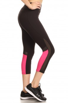 COLOR BLOCKING CAPRIS W/ MESH#8CP17
