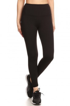 HIGH WAIST FLEECE LINED ANKLE LEGGING#8L76