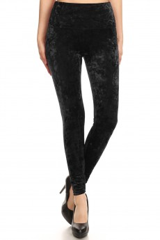 HIGH WAIST CRUSHED VELVET LEGGING#8L80