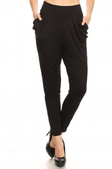 BLACK HAREM PANTS #8PNT02