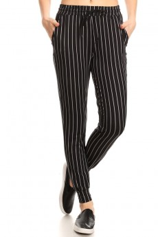 PRINTED STRIPES JOGGER WITH SHOE LACE TIE #8TRK36-SP33A