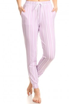 PRINTED STRIPES JOGGER WITH SHOE LACE TIE #8TRK36-SP36