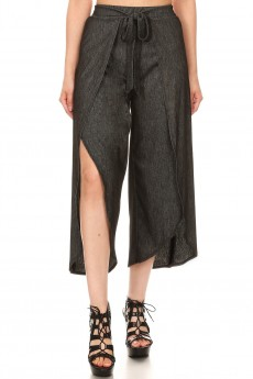 STRETCH DENIM WRAP CULOTTES#9CWR01