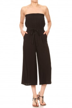 RAYON TUBE TOP CROPPED JUMPSUIT#9jps04