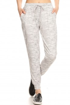 FLEECE LINED PRINTED JOGGER W/ SHOE LACE TIE#9TRK16-SD07