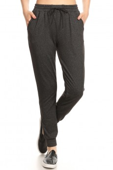 FLEECE LINED PRINTED JOGGER W/ SHOE LACE TIE#9TRK16