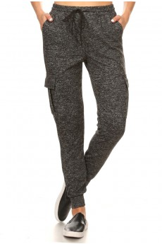 SOFT SWEATER KNIT CARGO JOGGER#9TRK24