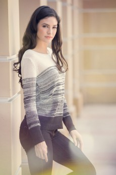 Ombre knit long sleeve sweater pullover top #SW15P20