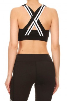 SPORTS BRA TOP WITH STRAPS #A7BR06
