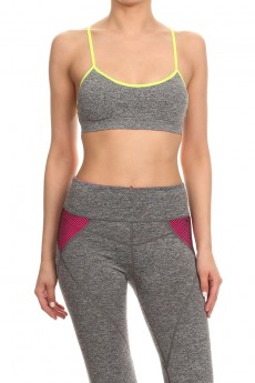 CHARCOAL ACTIVE BRA #ACM15N107-B