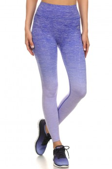 PURPLE OMBRE SEAMLESS ACTIVEWEAR LEGGING PANT#asl15np107