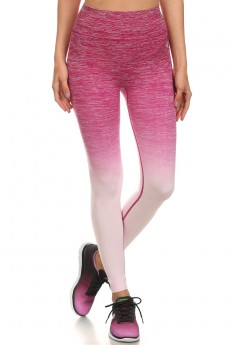 SEAMLESS OMBRE ACTIVE LEGGINGS CRANBERRY#ASL15NP108