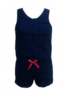 KIDS LACE ROMPER WITH BOW TIE (7/8, 10/12) #XK6RMP09-01
