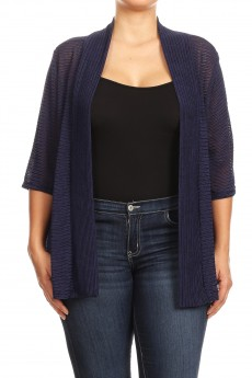 MISSY PLUS SOLID CANG CANG CARDIGAN#MCA001X