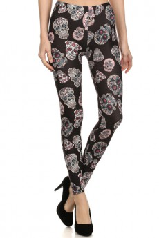 Catacombs BRUSHED POLY PRINT LEGGINGS  #PL15BP039