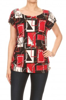 NON BRUSHED STATUS PRINT GROMMET SHO SIDE TUCK TOP#TS013-CP01