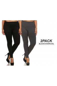 PLUS 2PACK BASIC FLEECE-LINED SEAMLESS LEGGING#X2SS9000