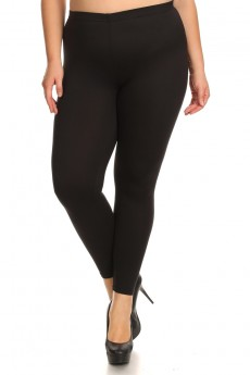 PLUS SIZE BRUSH POLY LEGGING #X7L01