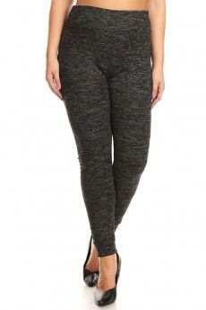 PLUS SIZE FLEECE-LINED SWEATER KNIT LEGGING #X7L108