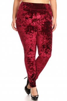 PLUS SIZE CRUSHED VELVET LEGGING#X7L52