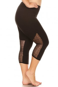 PLUS CAPRIS W/ BACK LACE LEG PANELS #X8CP25
