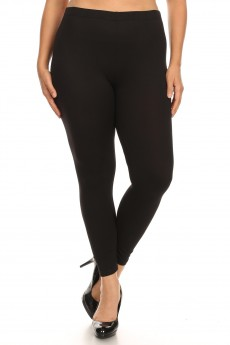 PLUS BLACK BRUSH POLY LEGGING#X8L34
