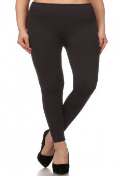 PLUS SIZE FUR LINED SEAMLESS LEGGINGS #xbt9000