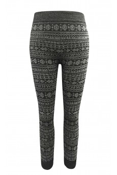 KIDS HEATHER CHARCOAL/WHITE RIB KNITTING FT SEAMLESS JACQUARD JOGGER (4/6X) #K6TRK12-04