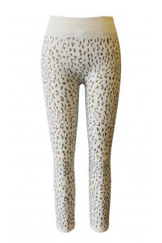 KIDS ANIMAL PRINT SEAMLESS FLEECE LEGGINGS(SIZE:7/8, 10/12)#XKHTS15FL22