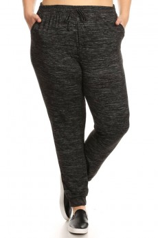 PLUS SIZE SWEATER KNIT JOGGER #X7TRK14