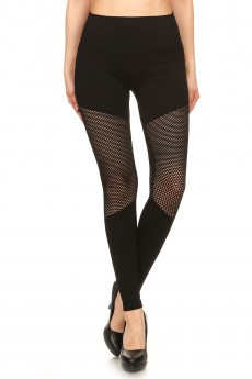 SEAMLESS HIGH WAIST LEGGING WITH FISHNET PANELS#YD7L141