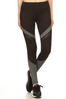 MULTI-COLOR BLOCK PANEL W/ MESH LEGGING #YD7L28