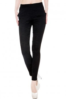SKINNY PANTS WITH LACE IN THE FRONT #yqm0001