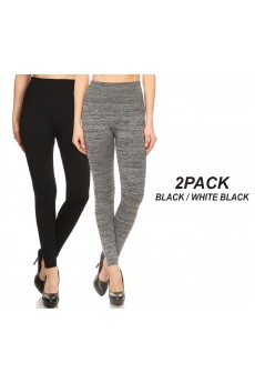 2PACK HIGH WAIST FLEECE SEAMLESS LEGGING#2P9L21